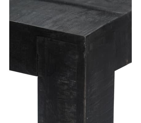 "vidaXL Dining Table Black 46.5""x23.6""x30"" Solid Mango Wood[4/9]"