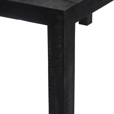 "vidaXL Dining Table Black 46.5""x23.6""x30"" Solid Mango Wood[3/9]"