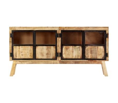 "vidaXL Sideboard Brown and Black 63""x11.8""x31.5"" Solid Rough Mango Wood[2/11]"
