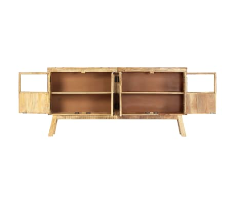 "vidaXL Sideboard Brown and Black 63""x11.8""x31.5"" Solid Rough Mango Wood[3/11]"