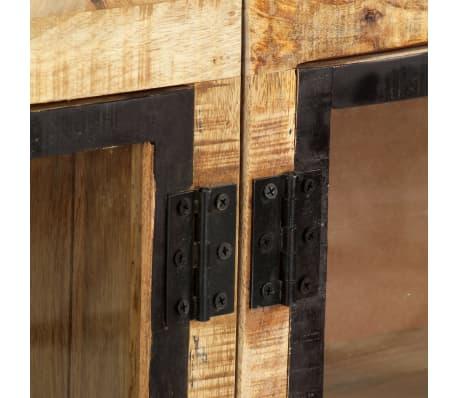 "vidaXL Sideboard Brown and Black 63""x11.8""x31.5"" Solid Rough Mango Wood[6/11]"
