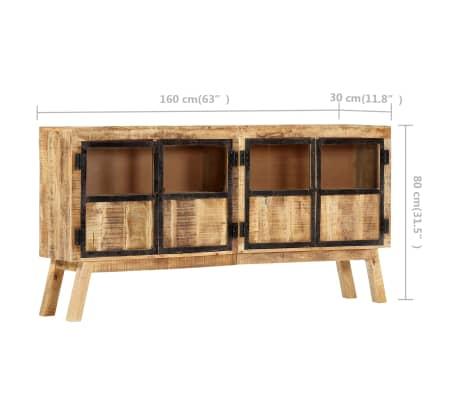 "vidaXL Sideboard Brown and Black 63""x11.8""x31.5"" Solid Rough Mango Wood[7/11]"