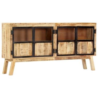 "vidaXL Sideboard Brown and Black 63""x11.8""x31.5"" Solid Rough Mango Wood[11/11]"