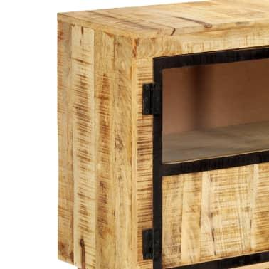 "vidaXL Sideboard Brown and Black 63""x11.8""x31.5"" Solid Rough Mango Wood[5/11]"