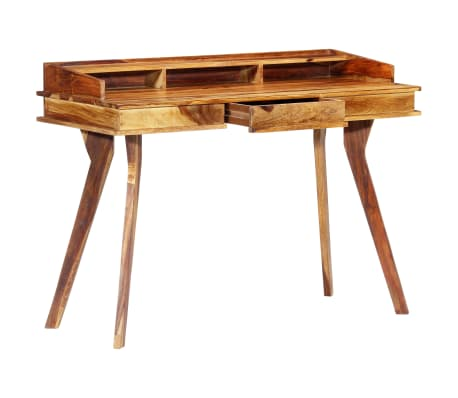 "vidaXL Writing Desk 45.3""x19.7""x33.5"" Solid Sheesham Wood[12/13]"