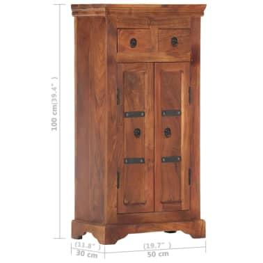 """vidaXL Sideboard 19.7""""x11.8""""x29.4"""" Solid Acacia Wood[10/15]"""
