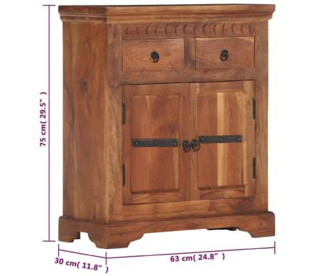 """vidaXL Sideboard 24.8""""x11.8""""x29.5"""" Solid Acacia Wood[12/17]"""