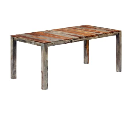 "vidaXL Dining Table Gray 70.9""x35.4""x29.9"" Solid Sheesham Wood"