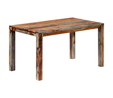 "vidaXL Dining Table Gray 55.1""x27.6""x29.9"" Solid Sheesham Wood"