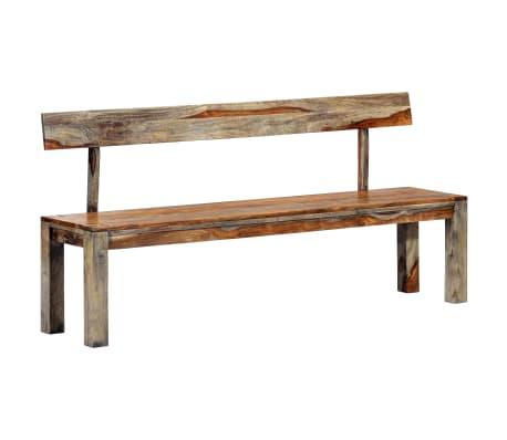 vidaXL Bench 160 cm Grey Solid Sheesham Wood
