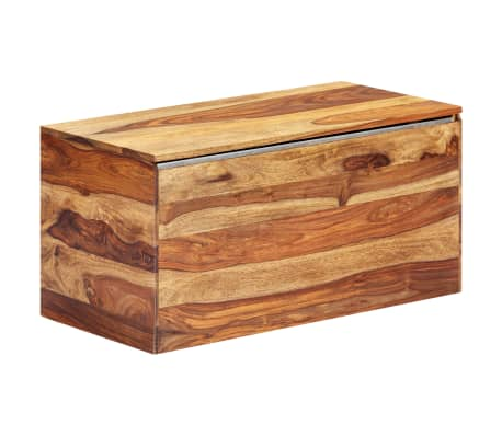 "vidaXL Storage Chest 31.5""x15.7""x15.7"" Solid Sheesham Wood[15/18]"