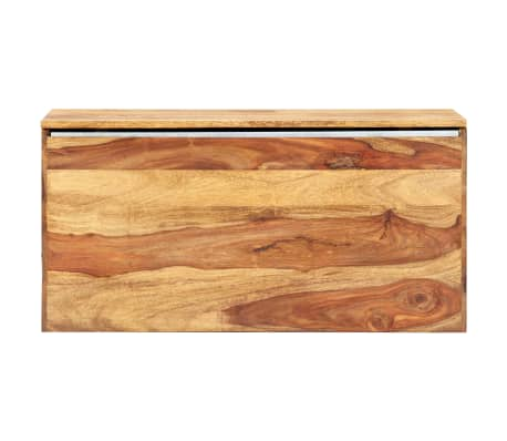 "vidaXL Storage Chest 31.5""x15.7""x15.7"" Solid Sheesham Wood[6/18]"