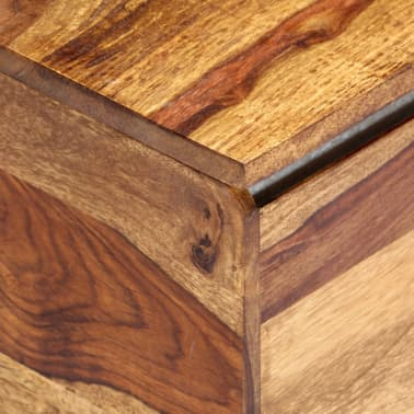 "vidaXL Storage Chest 31.5""x15.7""x15.7"" Solid Sheesham Wood[12/18]"
