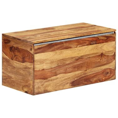 "vidaXL Storage Chest 31.5""x15.7""x15.7"" Solid Sheesham Wood[17/18]"