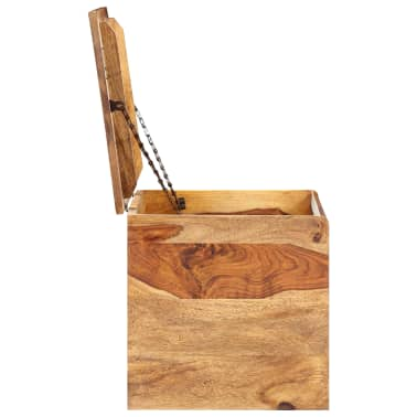 "vidaXL Storage Chest 31.5""x15.7""x15.7"" Solid Sheesham Wood[5/18]"