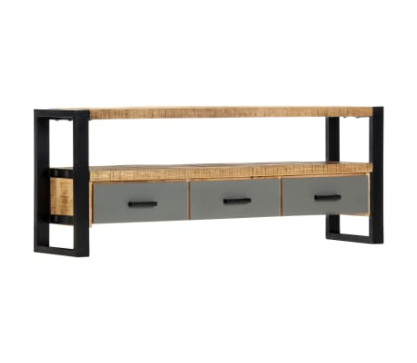 "vidaXL TV Cabinet 51.2""x11.8""x19.7"" Solid Mango Wood[1/11]"