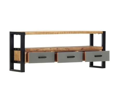 "vidaXL TV Cabinet 51.2""x11.8""x19.7"" Solid Mango Wood[3/11]"