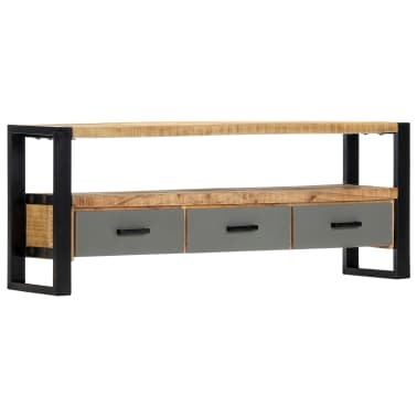 "vidaXL TV Cabinet 51.2""x11.8""x19.7"" Solid Mango Wood[11/11]"