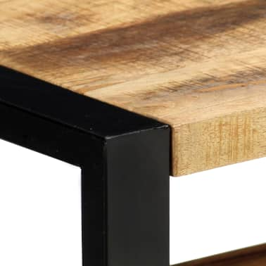 "vidaXL TV Cabinet 51.2""x11.8""x19.7"" Solid Mango Wood[5/11]"