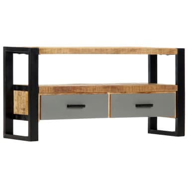 "vidaXL TV Cabinet 39.4""x11.8""x19.7"" Solid Mango Wood[1/11]"