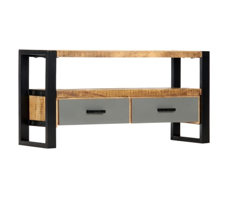 "vidaXL TV Cabinet 39.4""x11.8""x19.7"" Solid Mango Wood[11/11]"