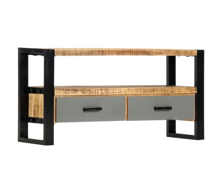 "vidaXL TV Cabinet 39.4""x11.8""x19.7"" Solid Mango Wood[9/11]"