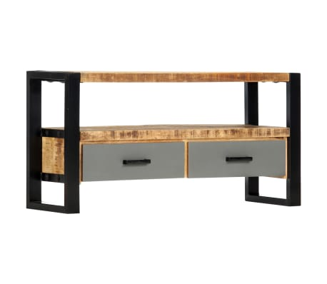 "vidaXL TV Cabinet 39.4""x11.8""x19.7"" Solid Mango Wood[10/11]"