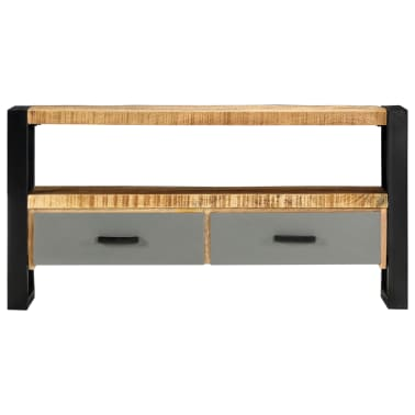 "vidaXL TV Cabinet 39.4""x11.8""x19.7"" Solid Mango Wood[2/11]"