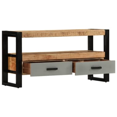 "vidaXL TV Cabinet 39.4""x11.8""x19.7"" Solid Mango Wood[3/11]"