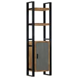 vidaXL Bookshelf 50x30x170 cm Solid Mango Wood