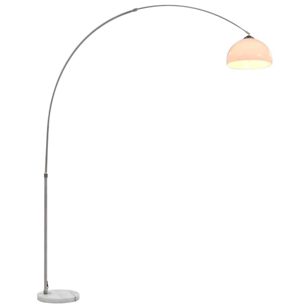 vidaXL Lampă arcuită, argintiu, 200 cm, 60 W, E27 poza vidaxl.ro