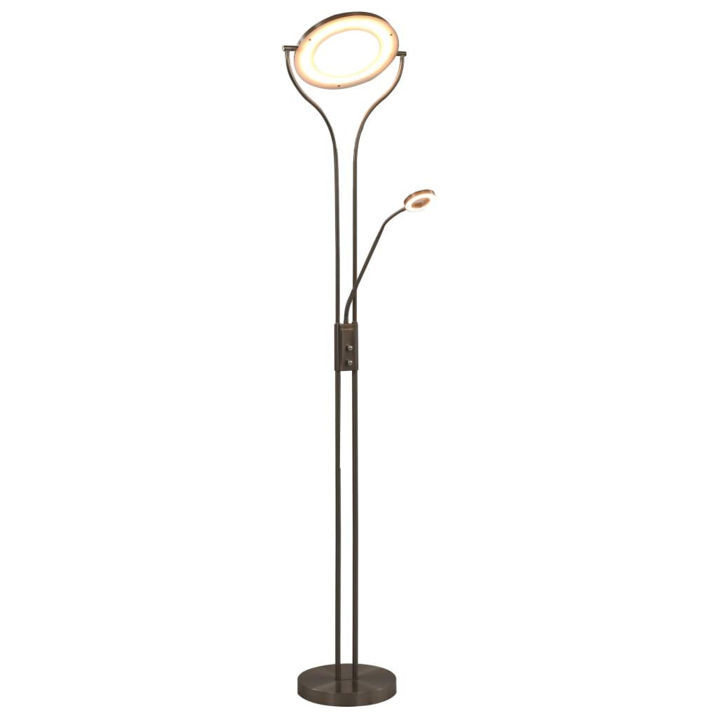 vidaXL Lampă de podea, argintiu, 180 cm, 18 W, reglabilă poza vidaxl.ro