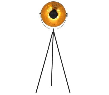 vidaXL standerlampe E27 41 cm sort og guld[2/7]
