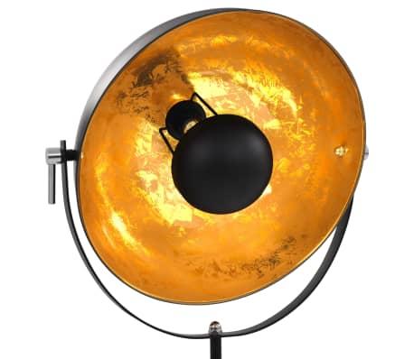 vidaXL standerlampe E27 41 cm sort og guld[3/7]