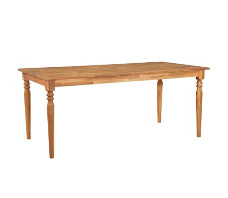 vidaXL Mesa de jardín de madera maciza de acacia 170x90x75 cm