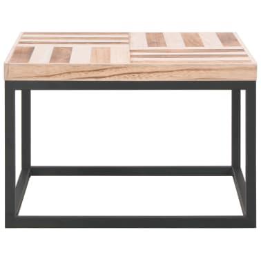 vidaXL Kavos staliukas, 50x50x33,5 cm, medienos masyvas[2/5]