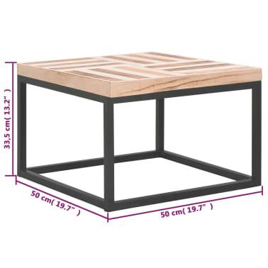 vidaXL Kavos staliukas, 50x50x33,5 cm, medienos masyvas[5/5]