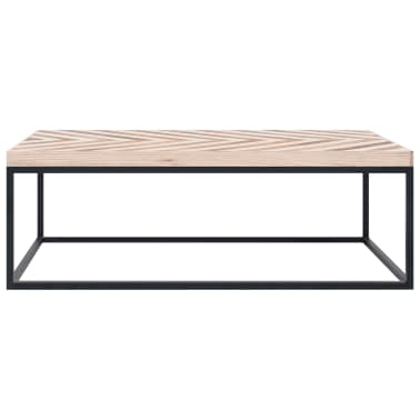vidaXL Kavos staliukas, 110x60x37 cm, mango medienos masyvas[2/5]