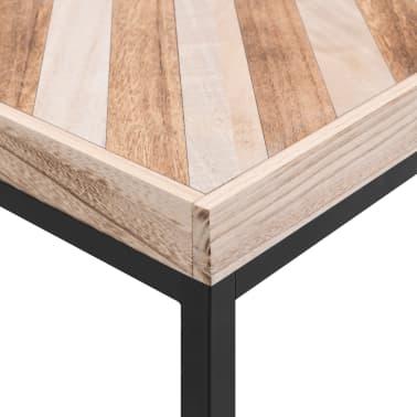 vidaXL Kavos staliukas, 110x60x37 cm, mango medienos masyvas[5/5]