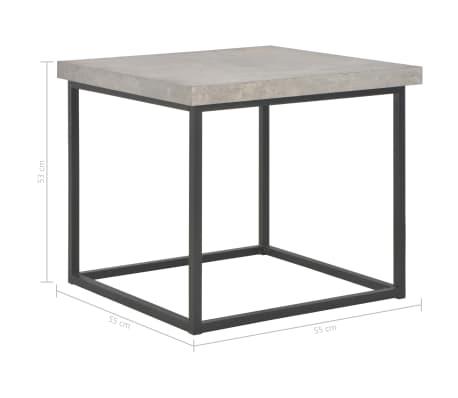 vidaXL Salontafel 55x55x53 cm beton-look[5/5]