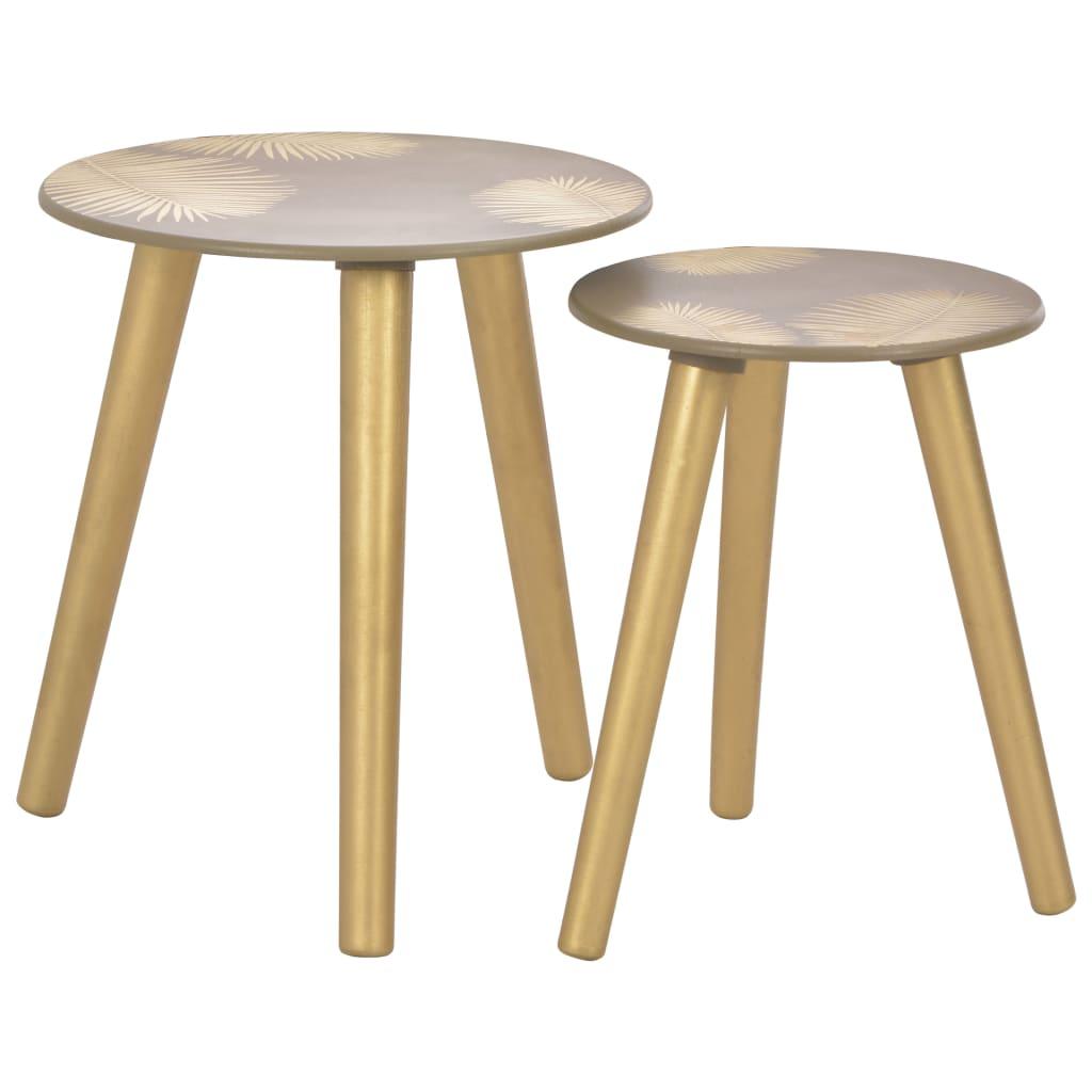 vidaXL Hnízdové odkládací stolky 2 ks zlaté 40x45 cm / 30x40 cm MDF