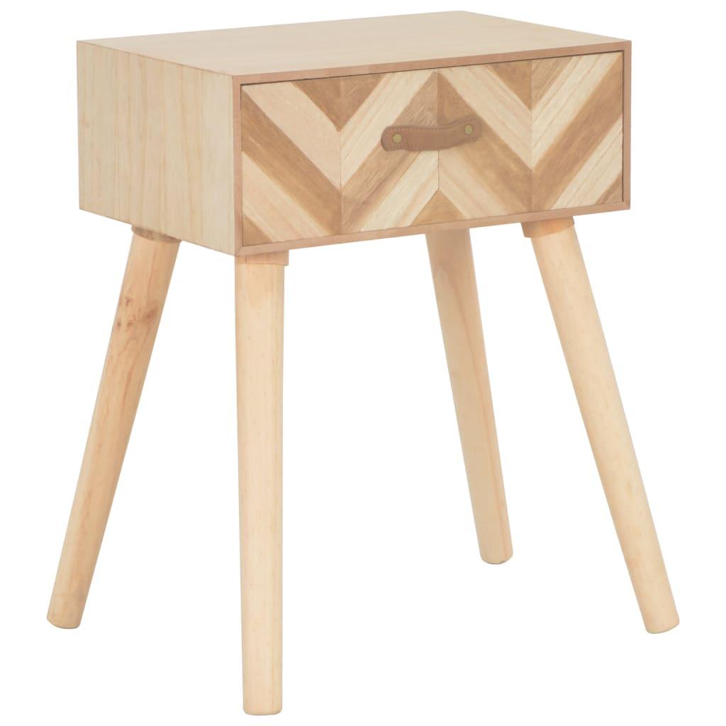 vidaXL Noční stolek se zásuvkou 44 x 30 x 58 cm masivní dřevo