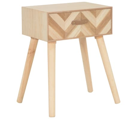 vidaXL Bedside Cabinet with Drawer 44x30x58 cm Solid Wood