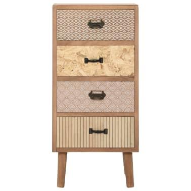 vidaXL Szafka z 4 szufladami, brązowa, 35,5 x 30 x 74,5 cm, MDF[2/8]
