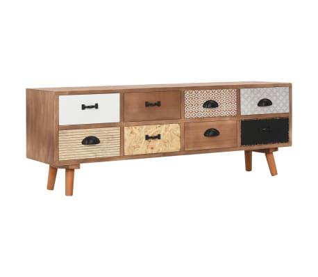 vidaXL Móvel de TV com 8 gavetas 120x30x40 cm madeira de pinho maciça
