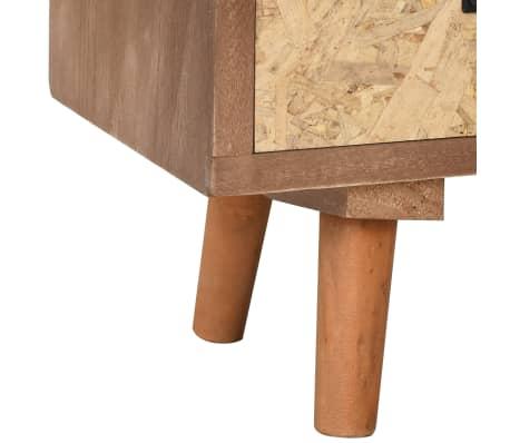 vidaXL Comodă TV cu 8 sertare, 120x30x40 cm, lemn masiv pin[7/8]