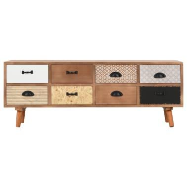 vidaXL Comodă TV cu 8 sertare, 120x30x40 cm, lemn masiv pin[2/8]