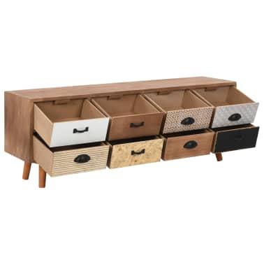 vidaXL Comodă TV cu 8 sertare, 120x30x40 cm, lemn masiv pin[3/8]