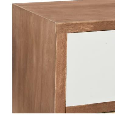 vidaXL Comodă TV cu 8 sertare, 120x30x40 cm, lemn masiv pin[5/8]