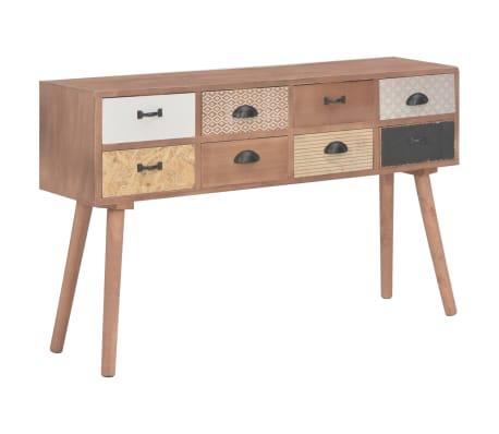 vidaXL Masă consolă cu 8 sertare, 120x30x76 cm, lemn masiv pin